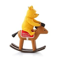 Baby's First Christmas 2013 Hallmark Winnie the Pooh Ornament Toy Rocking Horse  #Hallmark