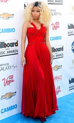 Nicki Minaj looked stunning in red at the #BillboardAwards