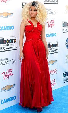 Nicki Minaj looked stunning in red at the #BillboardAwards