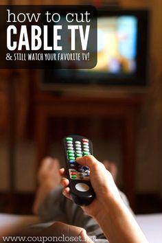 Alternatives to cable TV. How to get local channels without cable. Try these easy tips to cutting cable tv without missing your favorite TV shows. Living On A Budget, Frugal Living Tips, Frugal Tips, Money Tips, Money Saving Tips, Tv Without Cable, Cable Tv Alternatives, Tv Hacks, Free Tv Channels