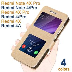Mobile Phone Bags & Cases. xiaomi redmi 4x/pro/4A case Luxucy Leather flip cover for xiaomi redmi note 4/X Pro case Windows case for xiaomi redmi note4 A x. #Mobile Phone Bags & Cases