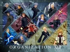 Organization XIII: no matter how cold and heartless these guys were, i wish i had them as a second family or a group of awesome roomates