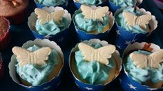 Blue Butterfly Muffins, Cupcakes, Blue Butterfly, Desserts, Food, Backen, Meal, Cupcake, Deserts