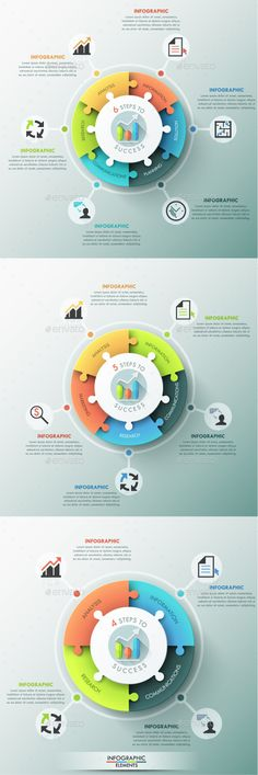 Pie Chart Templates Circle Pie Chart Infographic Elements Design  Pinterest  Pie .