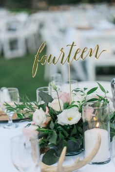 These gold calligraphy table numbers add that elegant touch that your guests will not miss! Each table number is laser cut from sturdy, but