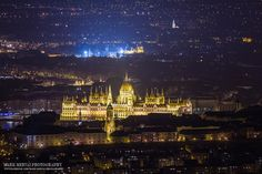 Good evening Budapest by Mark Mervai on Capital Of Hungary, Houses Of Parliament, Amazing Architecture, Empire State Building, Budapest, Adventure Travel, Paris Skyline, Sunrise, Lights