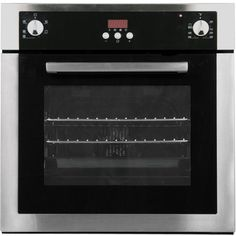 Cosmo 24 Inch Single Electric Wall Oven with 2 cu. Capacity, European Style Convection, 5 Cooking Functions, Digital Display and Insulated Cool Touch Glass Door in Black and Stainless Steel Electric Wall Oven, Single Wall Oven, Large Oven, Stainless Steel Oven, Heat Resistant Glass, Fireplace Accessories, Oven Racks, Steel Wall
