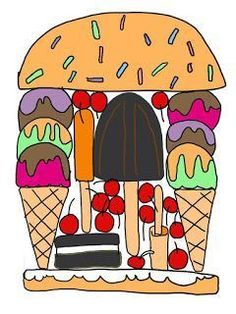 """"""""""" Art Sub Lessons """""""" This art lesson, Silly Sandwich, is easy to teach and fun to do. It can be taught by art subs, classroom teachers and art teachers. Classroom Art Projects, Easy Art Projects, Art Classroom, Kindergarten Art Lessons, Art Lessons Elementary, Art Sub Plans, Art Lesson Plans, Art Lessons For Kids, Middle School Art"""