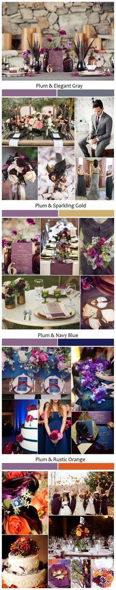 Top 5 Rustic Shades of Plum Wedding Ideas.plum so much elegant and class than just purple lol wedding fall ideas / april wedding / wedding color pallets / fall wedding schemes / fall wedding colors november Plum Wedding, Fall Wedding Colors, Trendy Wedding, Perfect Wedding, Rustic Wedding, Wedding Flowers, Dream Wedding, Wedding Day, Wedding Vintage
