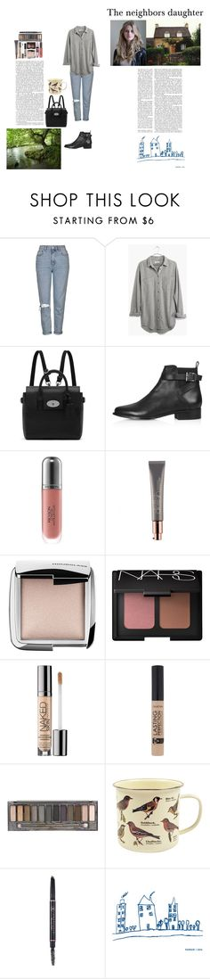 """The Girl next Door"" by silly-stegosaurus ❤ liked on Polyvore featuring Prada, Topshop, Madewell, Mulberry, Revlon, Hourglass Cosmetics, NARS Cosmetics, Urban Decay, Maybelline and Dot & Bo"