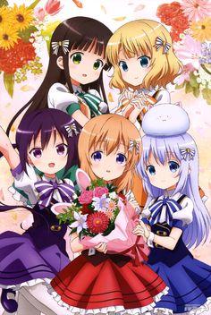 Megami MAGAZINE March 2015 anime posters Haruhichan.com gochuumon wa usagi desu ka poster 2