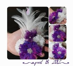 I made this corsage for one of my boy's Prom date...<3