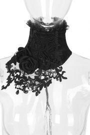 Gothic Kragen Halsband - Black Roses