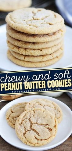 Make your holidays extra sweet and special with these Soft Peanut Butter Cookies! It's a great Christmas cookie recipe to serve to family and friends. These hearty and chewy holiday treats have the perfect peanut butter flavor. Save this pin! Delicious Cookie Recipes, Fun Easy Recipes, Best Cookie Recipes, Holiday Recipes, Yummy Food, Popular Recipes, Roll Cookies, Yummy Cookies, Favorite Cookie Recipe