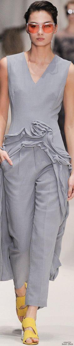 Alena Akhmadullina Spring 2016 RTW women fashion outfit clothing style apparel @roressclothes closet ideas