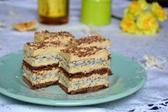 Bezea mac :  6 albusuri Torte Recepti, Kolaci I Torte, Romanian Desserts, Romanian Food, Bread Dough Recipe, Cake Recipes, Dessert Recipes, Delicious Desserts, Yummy Food