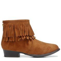 Report Kids' Kristie Fringe Boot Pre/Grade School Boots (Cognac) - 13.0 M