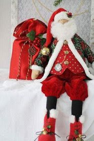 Santa Claus in the style tilde Best Christmas Gifts, Christmas Art, Christmas And New Year, Christmas Stockings, Christmas Ornaments, Tilda Toy, Santa Crafts, Santa Doll, Handmade Christmas Decorations