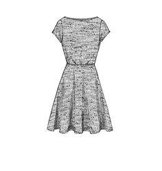 M7313, Misses'/Women's Flared Dresses (NO darts)