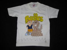 Boy With Dog Tee Shirt White Short Sleeves by AnjusCreations