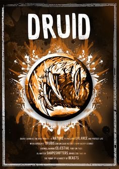 World of Warcraft: Druid Class Symbol print/poster by SodaArcade