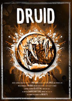 World of Warcraft: Druid Class Symbol poster by SodaArcade
