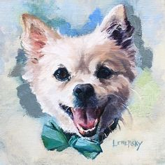 'Tuck' oil on canvas Pet portraits and dog art by Heather Lenefsky. Corel Painter, Pet Dogs, Pets, Personalised Canvas, Dog Illustration, Animal Paintings, Dog Art, Pet Portraits, Dog Pictures