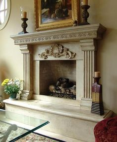 Beautiful details enhance this mantel - Heat up Your Fireplace with a Stylish Mantel