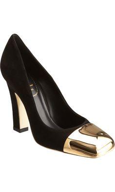 "Yves Saint Laurent Mae  www.Barneys.com TOP ""5"" Black Court shoe -pump for your Winter Shoe Closet 2012 ... www.barneys.com"