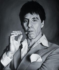 Portrait of Al Pacino by chaosart on Stars Portraits, the biggest online gallery for celebrity portraits. Scarface Poster, Scarface Movie, Al Pacino, Celebrity Drawings, Celebrity Portraits, Mafia, Carlo Gambino, Scared Face, Airbrush