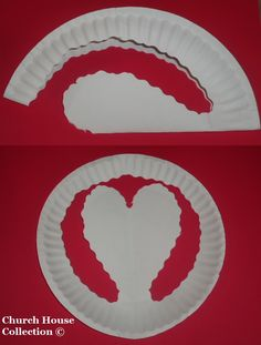 How To Make A Valentine Paper Plate Heart.