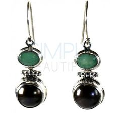 Classic Elegance Sterling Silver, Green Emerald and Grey Pearl Earrings  - classic two-tiered sterling silver, green emerald and grey pearl earrings will always be in style. An oval facet cut green emerald rests above a round grey pearl. These beautiful earrings will dangle gracefully by a French hook closure. They are handcrafted using .925 sterling silver.  http://simplybeautiful2012.com/classic-elegance-green-emerald-and-grey-pearl-earrings.html#