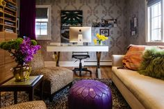 Evelyn Benatar transformed her son's childhood bedroom into an office in her Great Neck, N.Y.,...