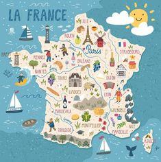 mapa da França 2