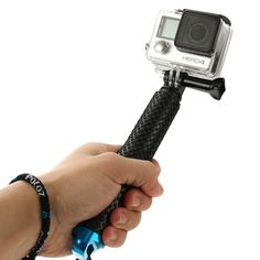 [$7.80] PULUZ Handheld Extendable Pole Monopod for GoPro HERO4 Session /4 /3+ /3 /2 /1, Length: 19-49cm