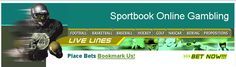 Sports gambling online featuring Vegas lines and betting odds.