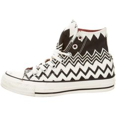 f8282f9425b0 Pre-owned Missoni for Converse High Top Chevron Sneakers ( 75) ❤ liked on