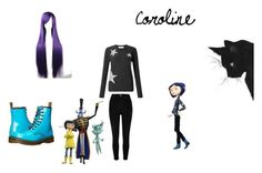 """""""coroline"""" by corpseskeleton ❤ liked on Polyvore featuring art"""