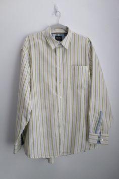 Indigo Palms by Tommy Bahama Multicolor Stripe Long Sleeve Shirt Size L #IndigoPalms #ButtonFront