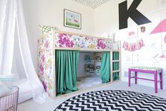 51 Cool Ikea Kura Beds Ideas For Your Kids Rooms. The Ikea beds are elegant furniture among the many product lines found at the Ikea stores in different countries. Kura Ikea, Ikea Bunk Bed, Ikea Kids Bed, Ikea Loft Bed Hack, Kura Bed Hack, Ikea Girls Bedroom, Bedroom Decor, Bedrooms, Big Girl Rooms