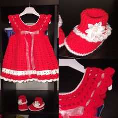 The Daily Knitter & Crocheter: Party/Christmas dress - free - step by step pattern Steps Dresses, Crochet Baby Clothes, Half Double Crochet, Little Princess, Easy Crochet, Dress Patterns, Free Pattern, Summer Dresses, Party