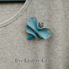 Check out this item in my Etsy shop https://www.etsy.com/uk/listing/268657125/blue-dragonfly-leather-pin-brooch