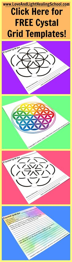 7 Simple Steps to Create a Crystal Grid + FREE Downloadable Seed of Life Crystal Grid Templates [Flower of Life]