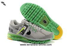 Mens Shoes Nike Air Max 2013 LG Hive Grey Green Black For Sale