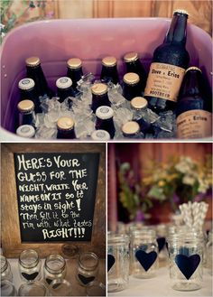 wedding with mason jars..cute for sisters wedding someday.
