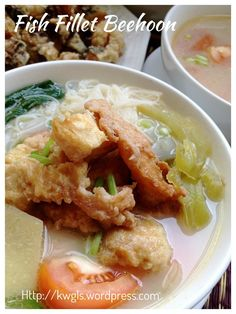 Fried fish beehoon soup