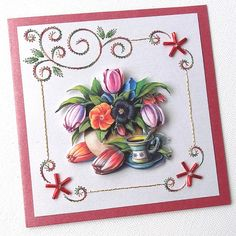 Hand stitched cards. Etsy