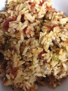 Sausage & Rice Yummy dish and so easy! I used regular brown rice not fast cooking and it worked great!Yummy dish and so easy! I used regular brown rice not fast cooking and it worked great! Rice Dishes, Tasty Dishes, Food Dishes, Main Dishes, Pork Recipes, Cooking Recipes, Healthy Recipes, Rice Recipes, Rice