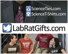 #ProductReviewParty Reviews, Chews & How-Tos: Review: Lab Rat Gifts: Science Ties and Science T-...