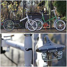 Folding bicycles#retro#style#bikes#handmade Folding Bicycle, Retro Style, Bicycles, Retro Fashion, Handmade, Retro Styles, Bike, Bicycle, Hand Made